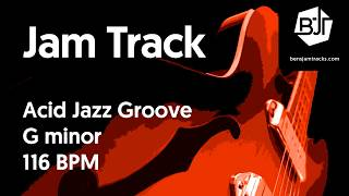 Acid Jazz Groove Jam Track in G minor - BJT #36