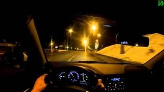 Lada Vesta night driving \ Ночная поездка на Весте (обкатка) - 4k, UHD