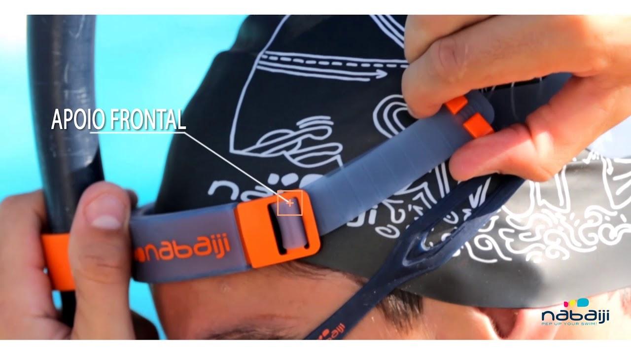 54dfa3a64 Snorkel frontal para Natação Nabaiji - Exclusividade Decathlon - YouTube