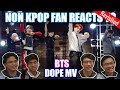 NON KPOP FAN REACTS TO BTS방탄소년단 _ DOPE쩔어 MV OurKrew Reacts