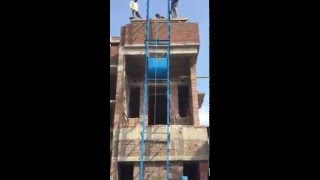 how to lift concrete mixture at third floor