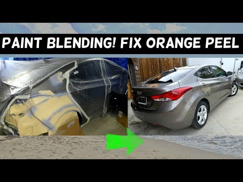 PAINTING REAR QUARTER PANEL and BLENDING PAINT