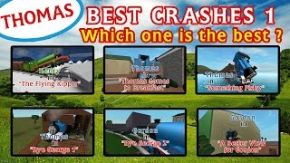 The Best Crashes 1 | Thomas and Friends Roblox Accidents Remake
