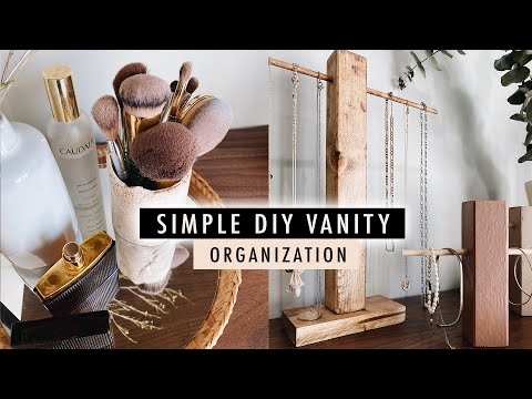 Simple DIY JEWELRY + MAKEUP ORGANIZATION (Vanity Makeover Part 1) | XO, MaCenna - YouTube
