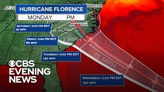 Latest forecast for Hurricane Florence
