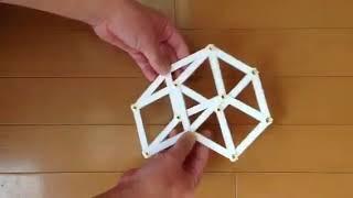 平面正八胞体を平面立方体に畳み込む