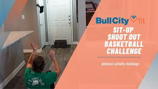 NEW CHALLENGE | sit-up shoot out BASKETBALL challenge!