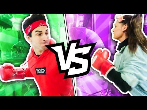 #3 Sfida SASCHINA in sala giochi! Anima Klaus e Sabri, chi colpisce più forte?