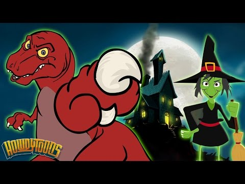 Halloween Songs | Scary Songs & Halloween Dinosaur Songs For Kids by HowdyToons