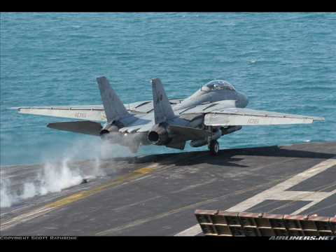F-14 Tomcat's Launching from Aircraft Carriers