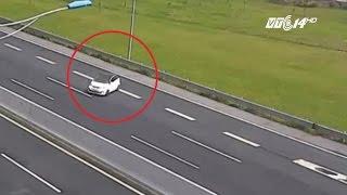 (VTC14)_Chạy ngược chiều trên cao tốc, nữ tái xế bị phạt nguội 7,5 triệu đồng