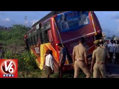 Tamil Nadu : Speeding Lorry Hits Bus In Tirunelveli   5 Dead & 10 Injured   V6 News
