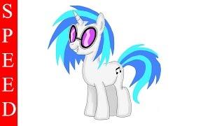 iPad Pro, Speed drawing pony DJ Pon 3, My Little Pony
