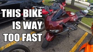 First Ride on a 2008 Honda CBR1000RR - TOO DAMN FAST