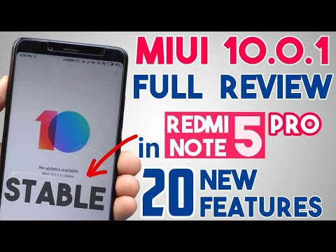 MIUI 10 Stable Update for Redmi Note 5 Pro   MIUI 10.0.1.0 Global Stable Full Review & New Features