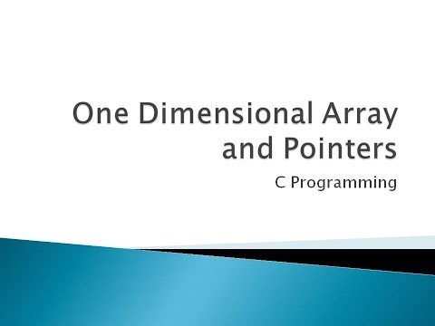 83 - One Dimensional Array And Pointers In C Programming