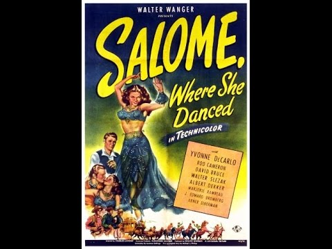 Western Salome Where She Danced 1945 Yvonne De Carlo, Rod Cameron, David Bruce Western