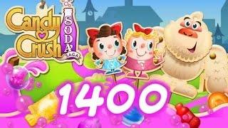 Candy Crush Soda Saga Level 1400 - No Boosters