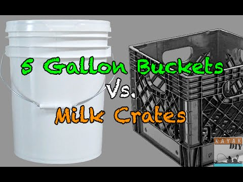 Kayak Fishing 101: Milk Crates Vs. 5 Gallon Buckets For Storage U0026 Tackle    YouTube