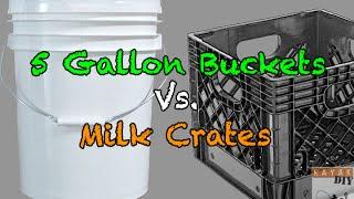 Diy Ideas For Milk Crates Vs. 5 Gallon Buckets ( Kayak Fishing Storage)