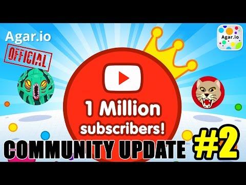 AGAR.IO COMMUNITY UPDATE #2 - 1M Subscribers!!! + Top 10 Skins, Clan News & More!