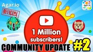 AGAR.IO COMMUNITY UPDATE #2 - 1M Subscribers!!! + Top 10 Skins, Clan News & More!