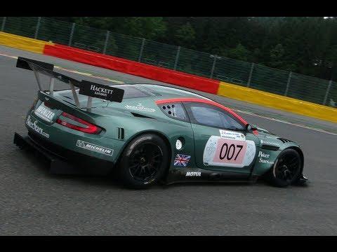 Aston Martin Dbr9 On The Race Track Youtube