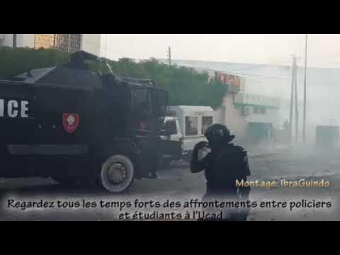 Regardez tous les temps forts des affrontements entre policiers  et étudiants à l'Ucad