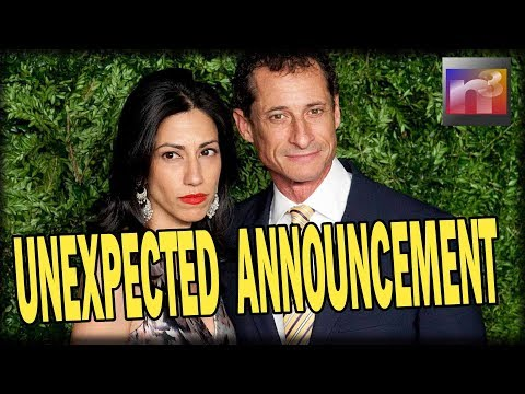 WOW! Huma Abedin and Pervert Husband Anthony Weiner Make UNEXPECTED Announcement No One Saw Coming