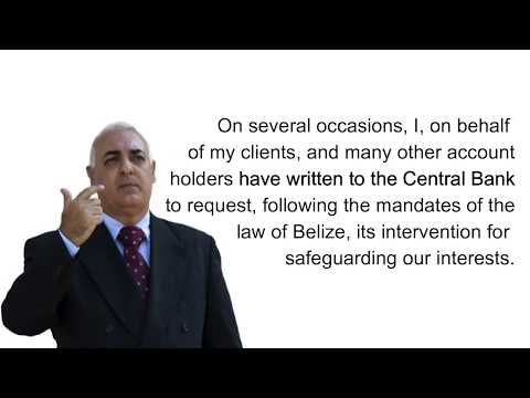 Letter to Joy Grant, Governor of the Central Bank of Belize  on Choice Bank case