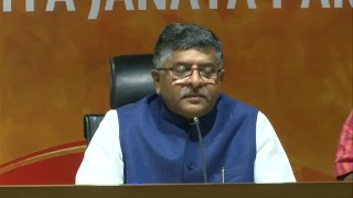 Press Conference by Shri Ravi Shankar Prasad at BJP Central Office, New Delhi
