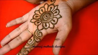Easy Arabic Henna Designs For Hands*Simple Arabic Mehndi Designs*Matroj Mehndi Designs