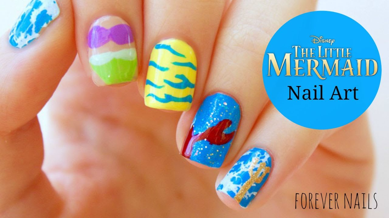 Disney's The Little Mermaid Nail Art - Disney's The Little Mermaid Nail Art - YouTube