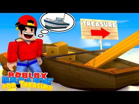 ROBLOX Adventure - BUILD A BOAT TO FIND THE TREASURE !!