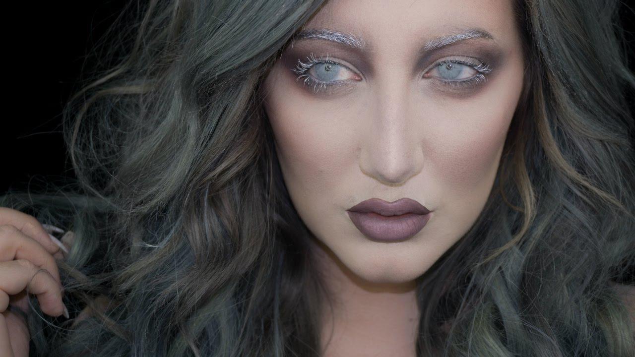 ghost halloween makeup tutorial ft new makeup geek matte shadows youtube. Black Bedroom Furniture Sets. Home Design Ideas