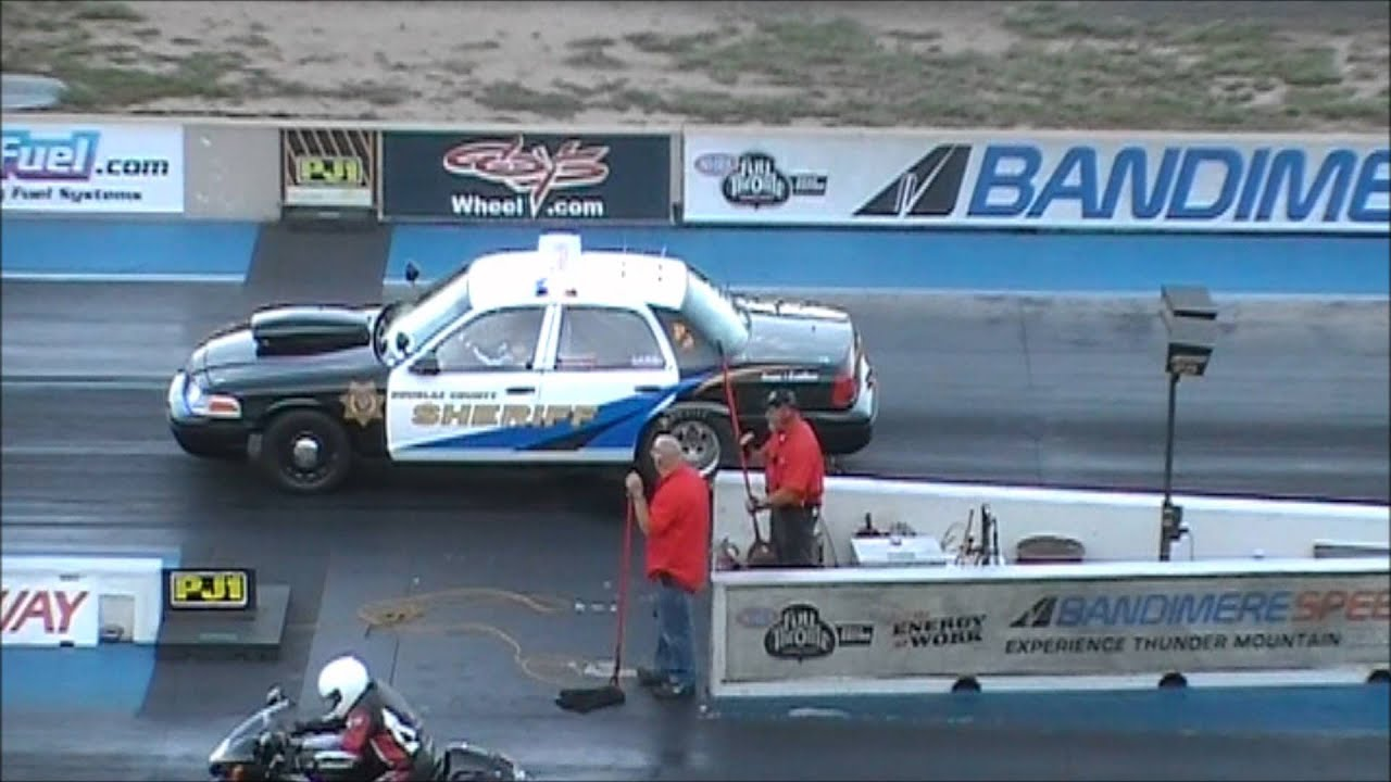 ford crown vic drag cop - youtube