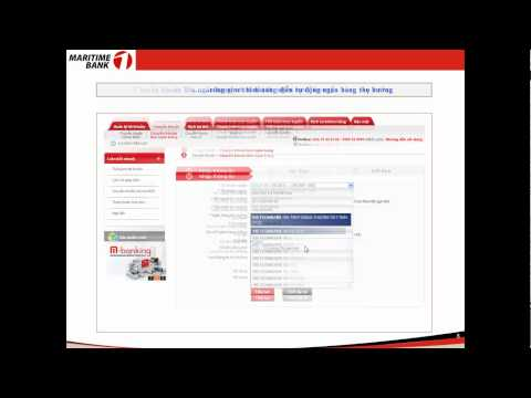 Giới thiệu dịch vụ Internet Banking của Maritime Bank