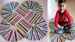 पन्नियों से बनाएं रंगोली आसान बड़े आसान तरीके से Rangoli Doormat   Easy Paydan