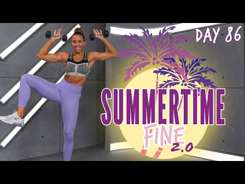 40 Minute Cardio Kickboxing and Abs Workout | Summertime Fine 2.0 – Day 86