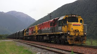 KiwiRail Trains in New Zealand's Southern Alps (HD)