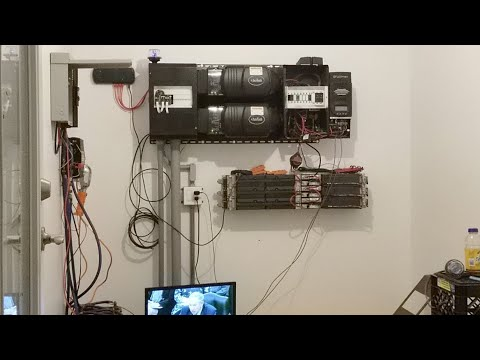 🔴Live: Real DIY Tesla Powerwall Solar System Online - Off Grid Home