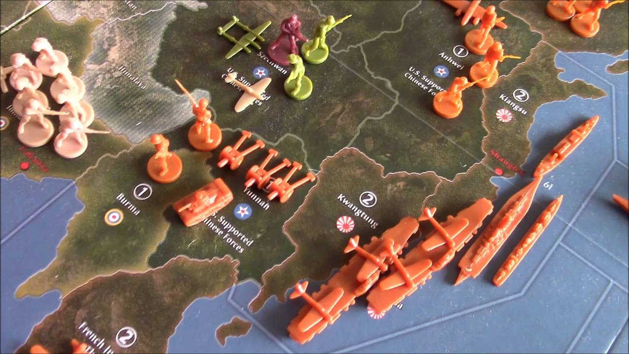 Axis and Allies Spring 1942 Second Edition: Japan Turn One