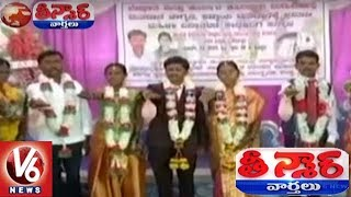 EVM Voting Machine Awareness In Marriage Function At Karnataka | Teenmaar News | V6 News