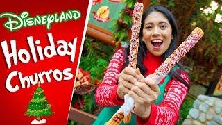 NEW DISNEYLAND HOLIDAY CHURROS!   DISNEYLAND HOLIDAY FOOD 2018