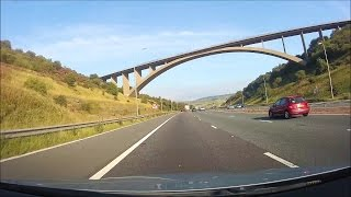 Driving in the UK - M62 & M621 - Manchester to Leeds