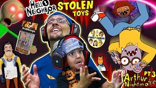 HELLO NEIGHBOR TOYS stolen by Crazy Cartoon Escape His House Get Them Back FGTEEV Challenge