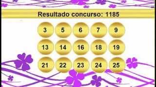 sorteio resultado lotofacil 1185 Palpite 1186