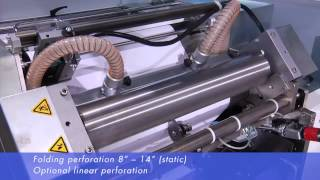 Roll to fanfold solution with static and dynamic punch and perforation module PP6 DP6