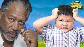 Kid Tries to MARRY Morgan Freeman's SISTER in Fortnite?! 😂