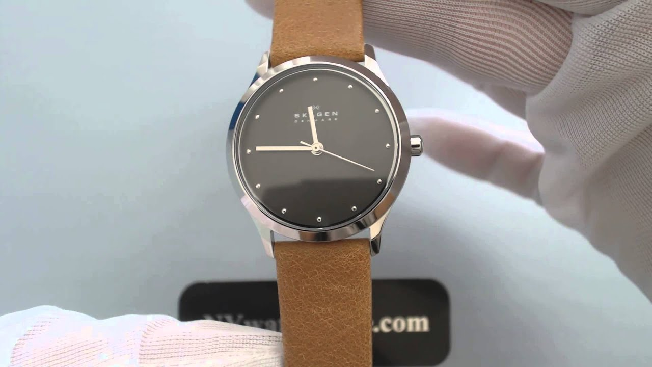 s skagen jorn leather band skw2282